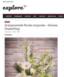 Aranjamentele florale corporate