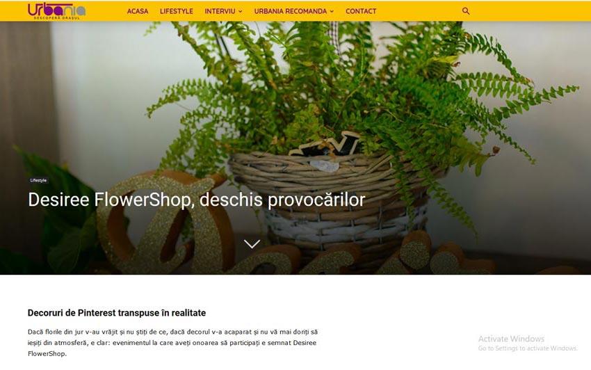 Desiree FlowerShop, deschis provocarilor